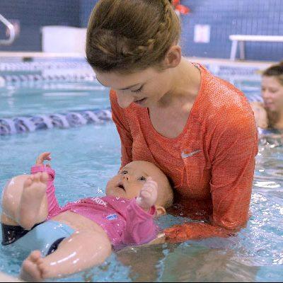 Baby and Mom swim lesson