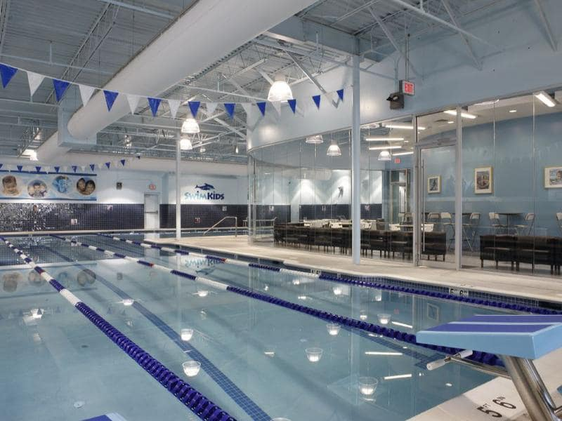 woodbridge pool with viewing area in back