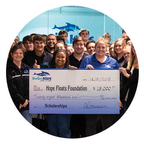 Raising Money For Swim Lesson Scholarships